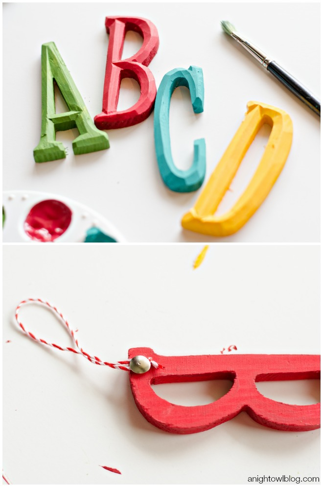 ABC Kids Christmas Ornaments | anightowlblog.com