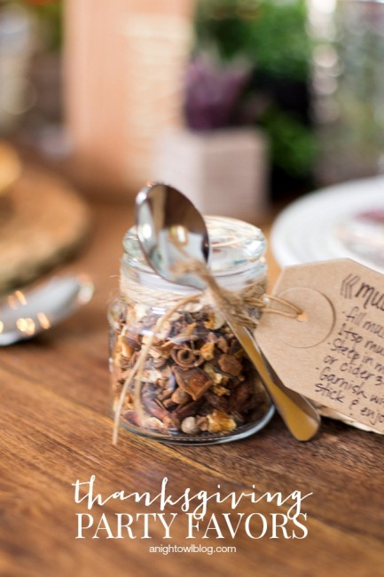 DIY Thanksgiving Party Favors | anightowlblog.com