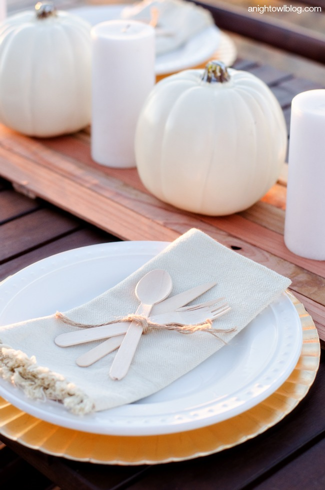 DIY Wooden Table Runner | anightowlblog.com