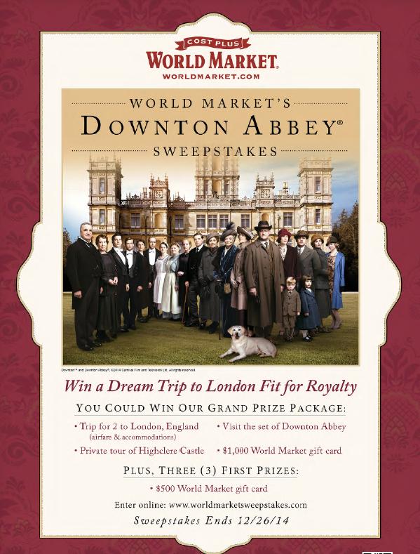Downton Abbey Sweepstakes | worldmarketsweepstakes.com