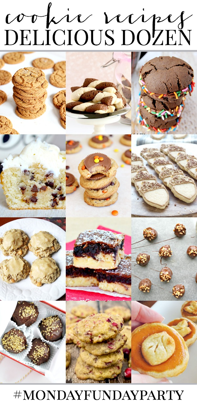Dozen Delicious Cookie Recipes | #MondayFundayParty Features