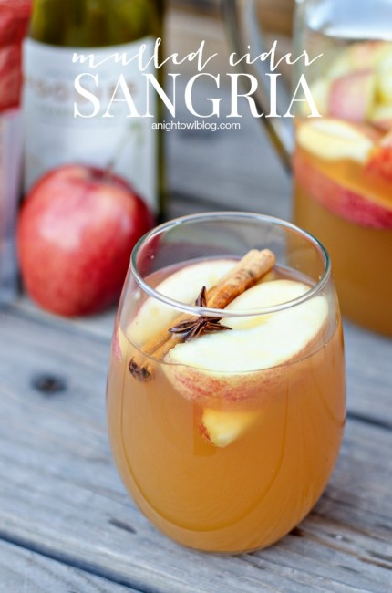 Mulled Apple Cider Sangria | anightowlblog.com