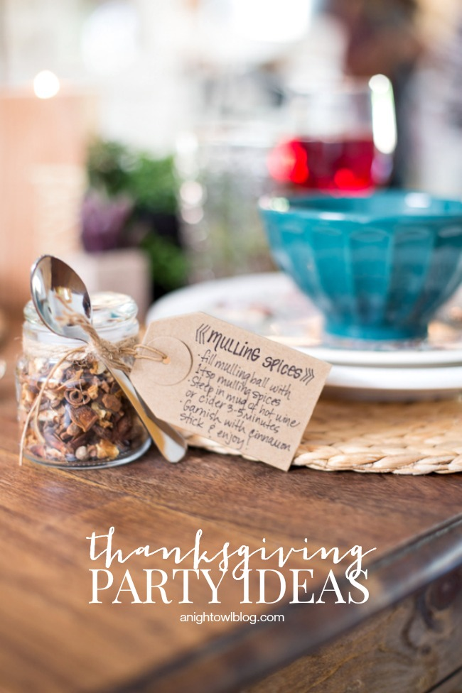 Thanksgiving Party Ideas | anightowlblog.com