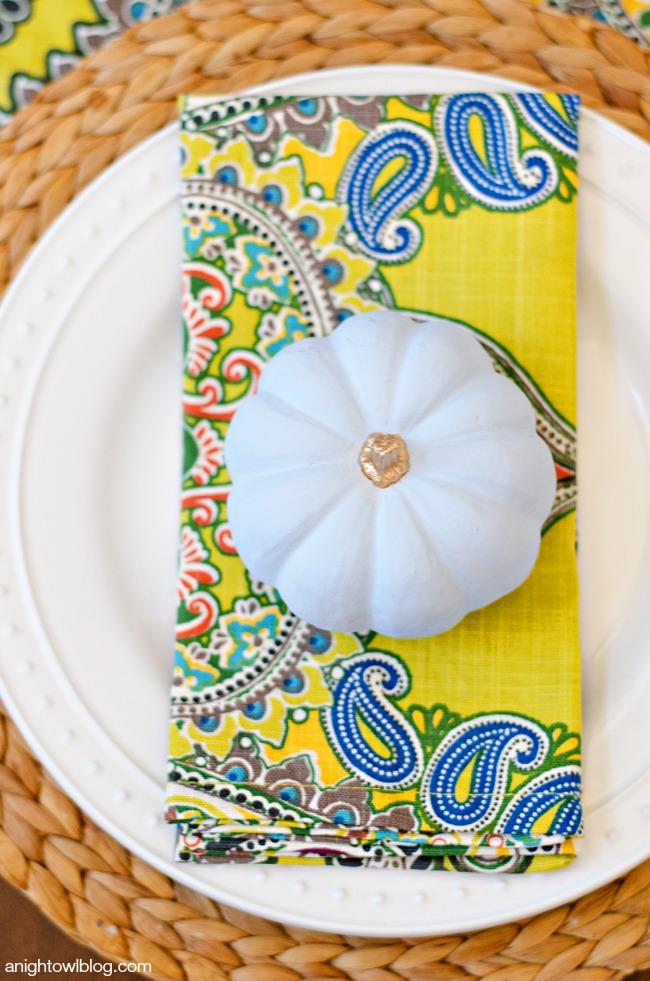 Thanksgiving Tablescape and Succulent Centerpiece | anightowlblog.com