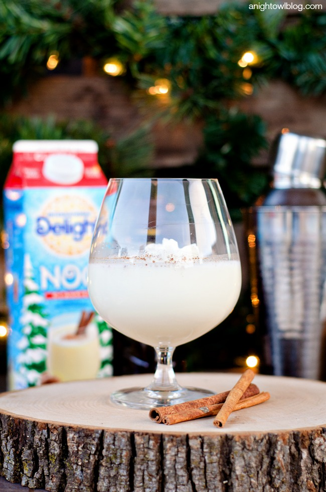White Chocolate Eggnog Cocktail C