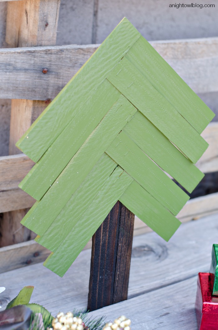 Wood Shim Christmas Tree | anightowlblog.com