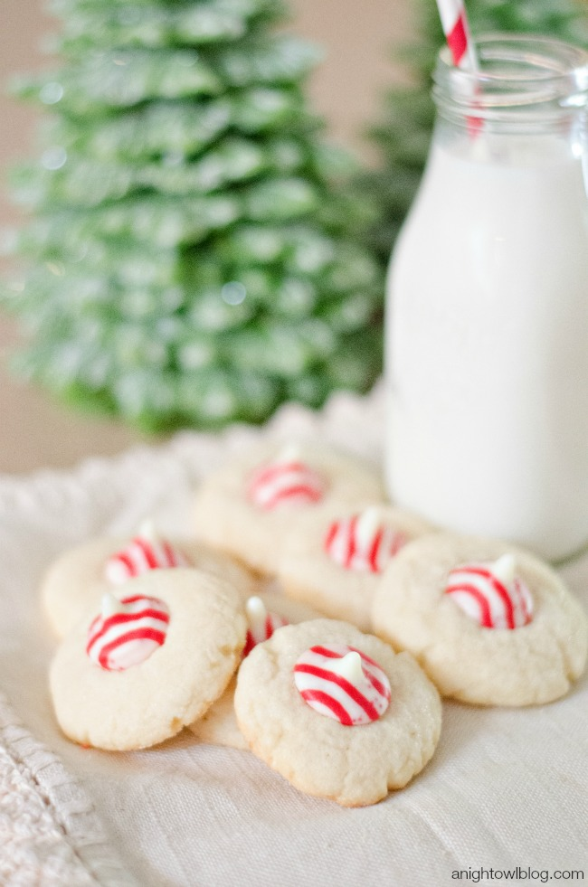 Candy Cane Sugar Blossoms | anightowlblog.com