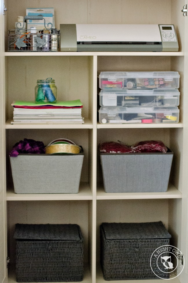 Craft Organization with Sauder | anightowlblog.com
