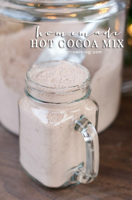 Homemade Hot Cocoa Mix | anightowlblog.com