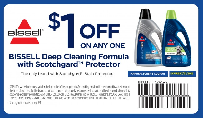 $1 OFF BISSELL Deep Cleaning Formula