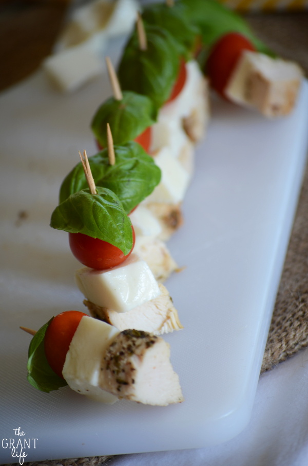 Margherita Chicken Bites - perfect appetizer for any get together or party!