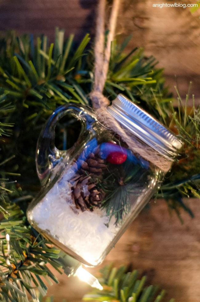 Adorable Mason Jar Ornament by anightowlblog.com