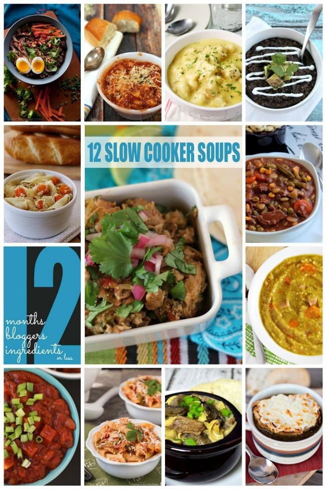12 Slow Cooker Soups | anightowlblog.com