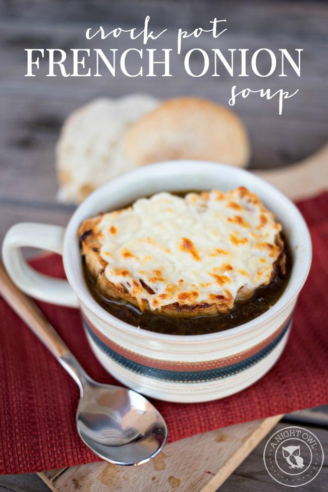 Crock Pot French Onion Soup | anightowlblog.com