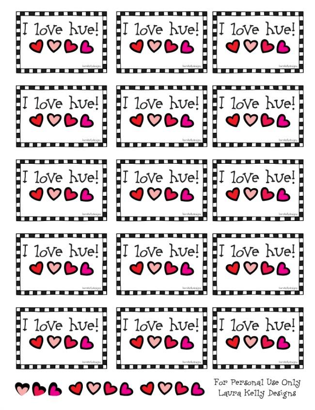 I Love Hue Printable | anightowlblog.com