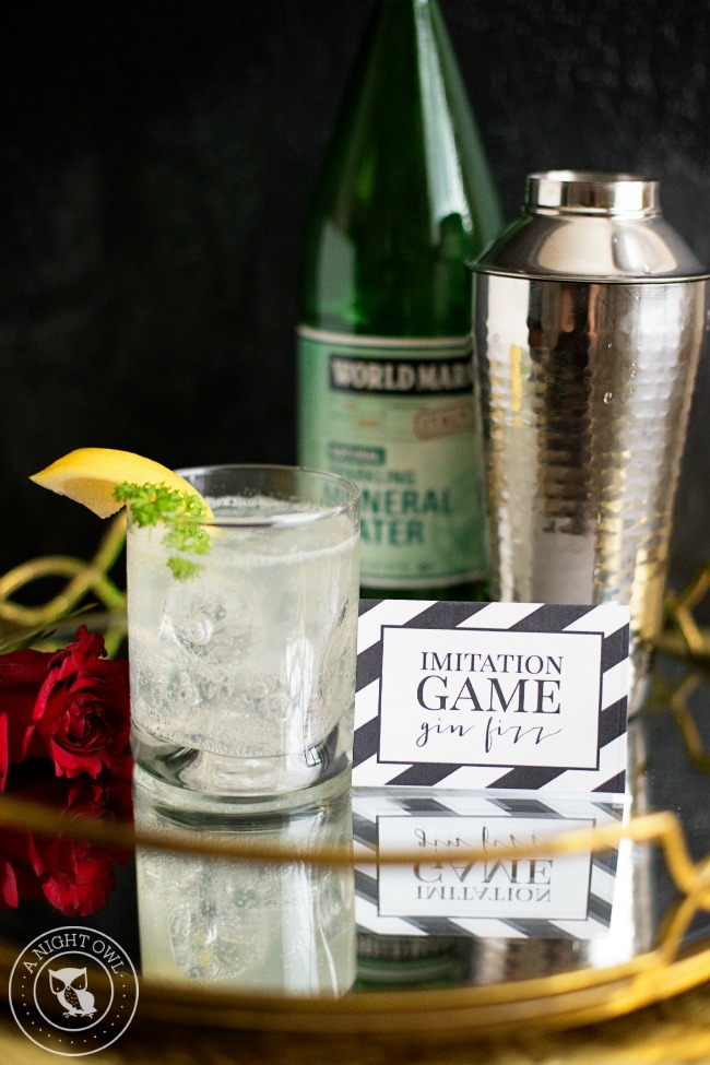 Imitation Game Gin Fizz | Oscars Cocktail Party