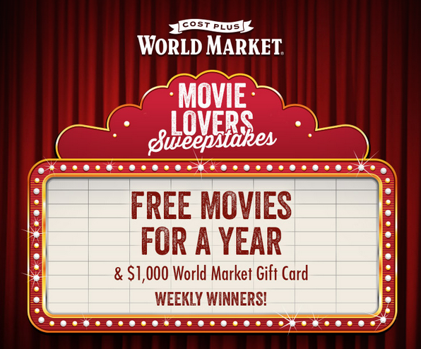 World Market Movie Lovers Sweepstakes