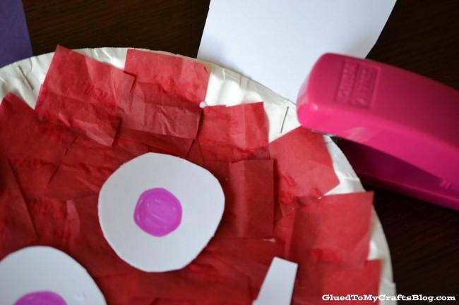 Paper Plate Love Bug Kid Craft