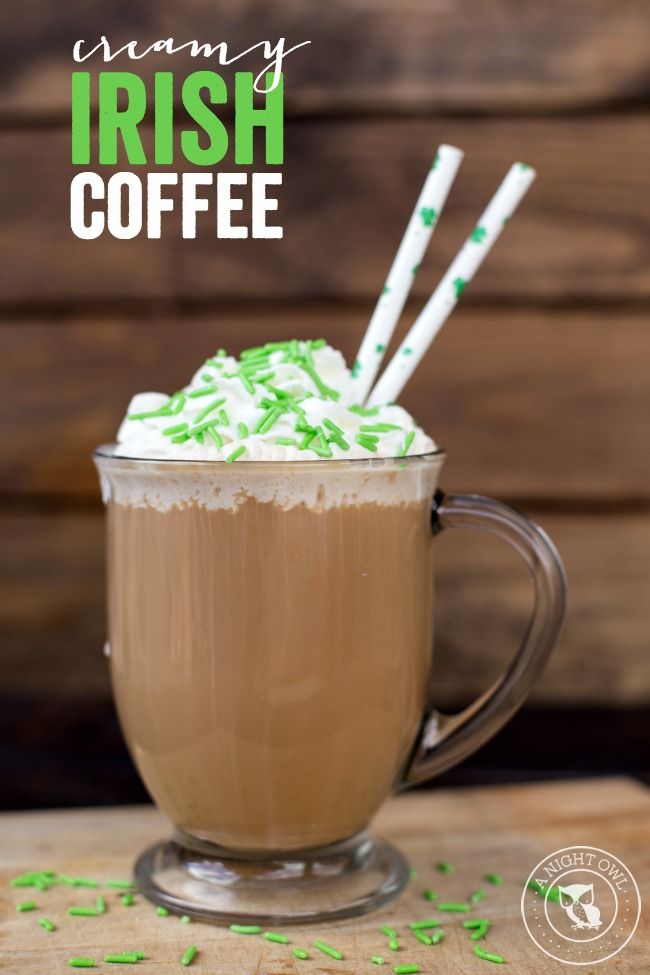 Creamy Irish Coffee | anightowlblog.com