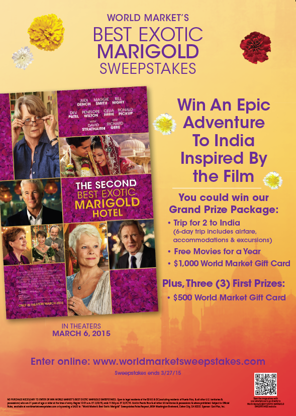 World Market's Best Exotic Marigold Sweepstakes
