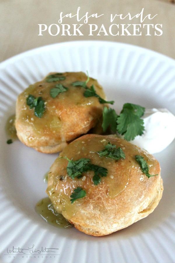 Salsa Verde Pork Pockets | anightowlblog.com
