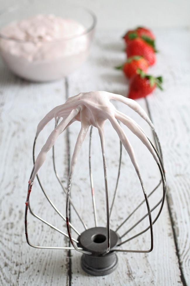 Strawberry Waffles with Homemade Strawberry Whipped Cream | anightowlblog.com