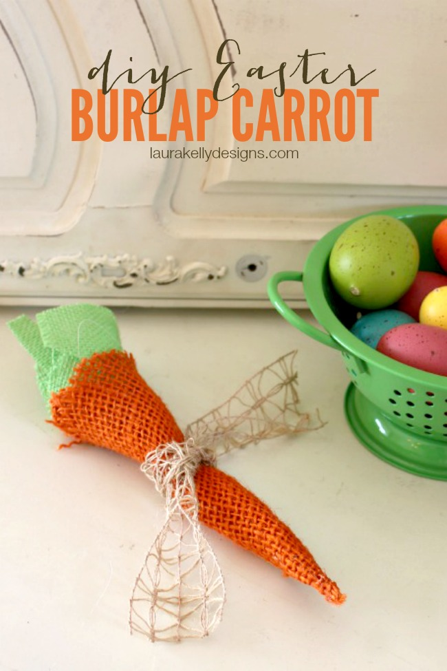 DIY Easter Burlap Carrots | anightowlblog.com