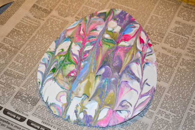 Marbled Painted Easter Egg