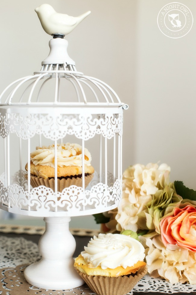 Parisian Cupcake Stand - an adorable little cupcake stand you can DIY yourself in just a few easy steps!