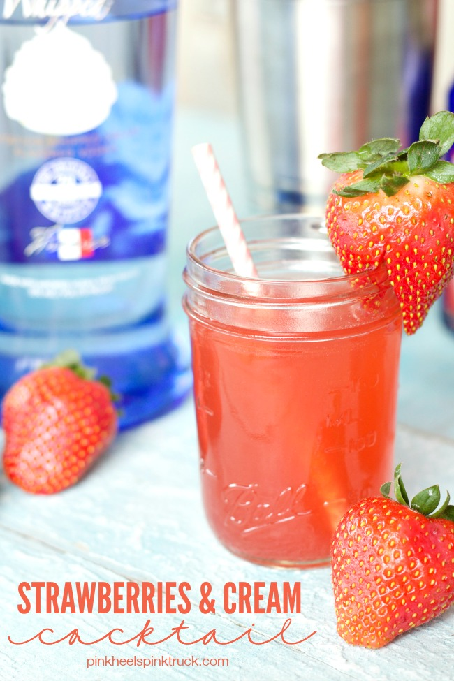 Strawberries and Cream Cocktail | anightowlblog.com
