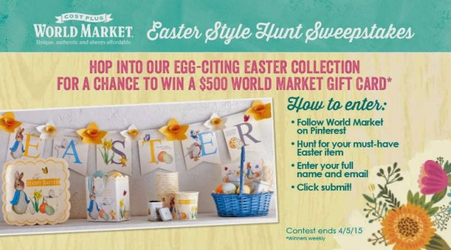 World Market Easter Style Hunt Sweepstakes