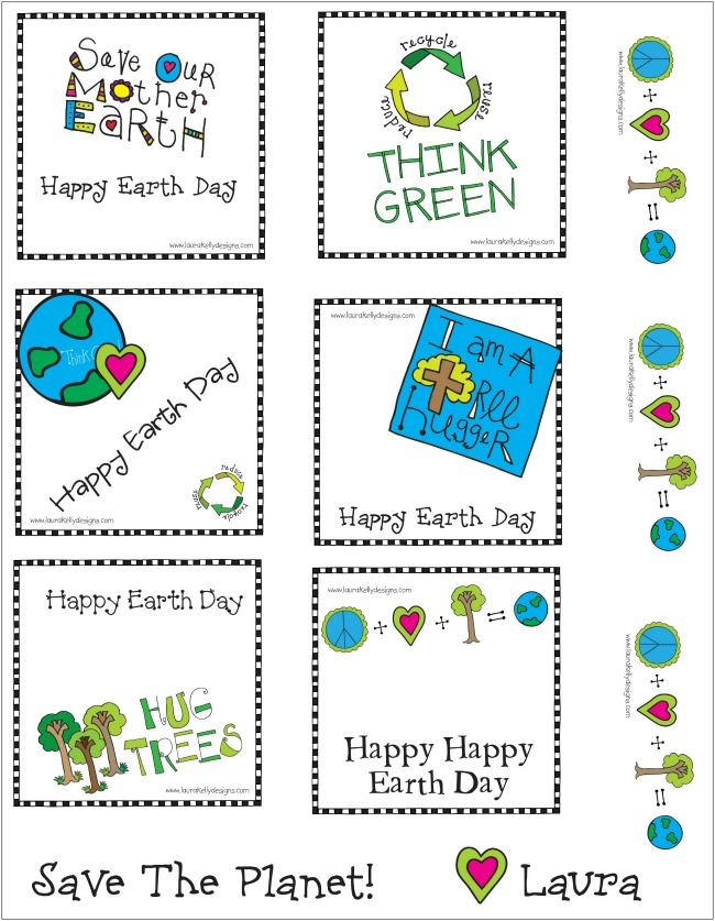 Earth Day Printable Gift Tags | anightowlblog.com