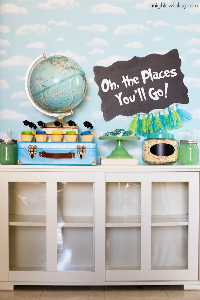 Oh The Places You'll Go Graduation Party | anightowlblog.com