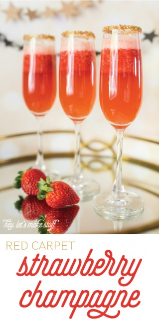 There's nothing girlier than strawbery champagne! Perfect for awards season, a girls night out, bridal showers, or just for fun!