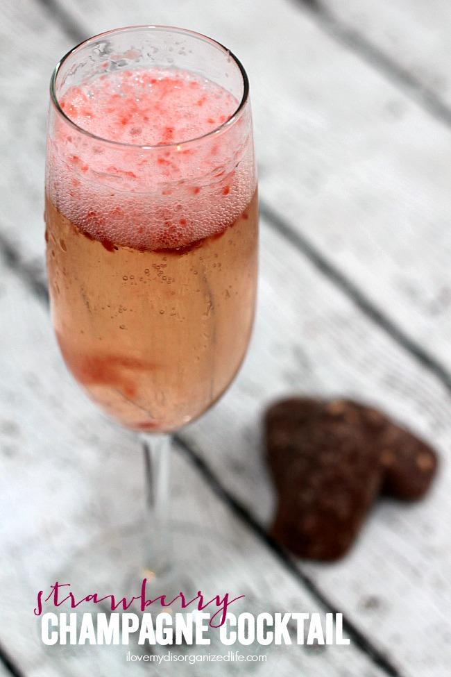 Strawberry Champagne Cocktail | anightowlblog.com