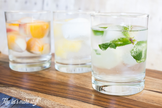 Cocktail Ice Cubes are a delicious, non-alcoholic way to infuse your water this summer!