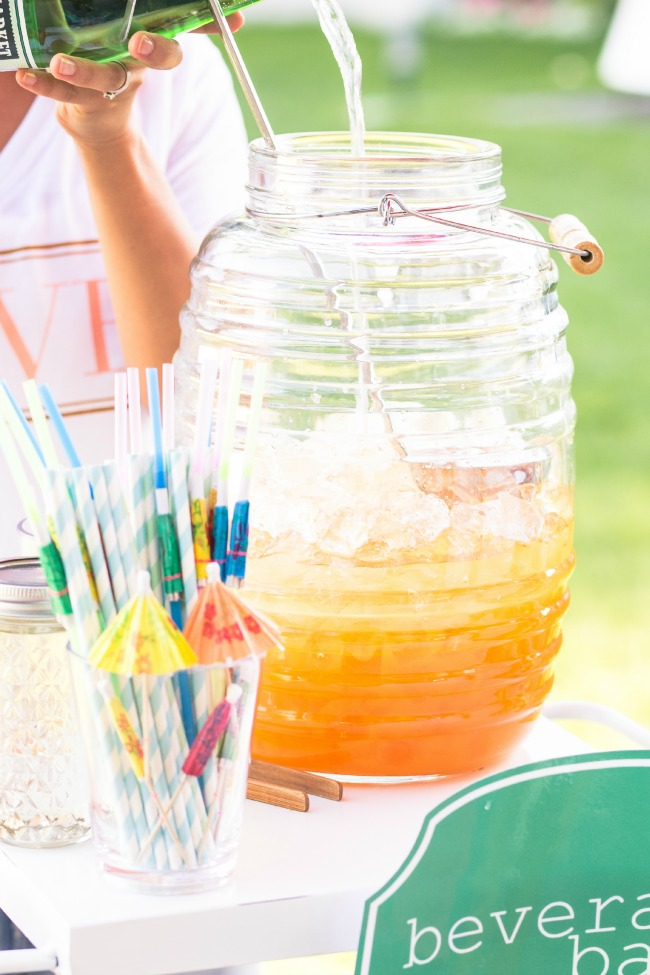 Fun block party Beverage Bar Ideas and Recipes!