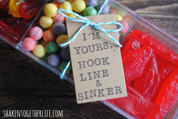 Candy Tackle Box - great gift for guys at Shaken Together!