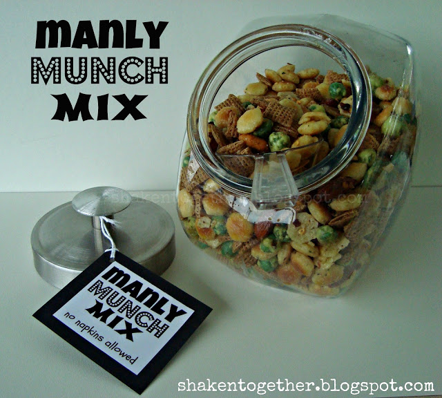 Manly Munch Mix - a spicy snack mix perfect for Father's Day at Shaken Together!