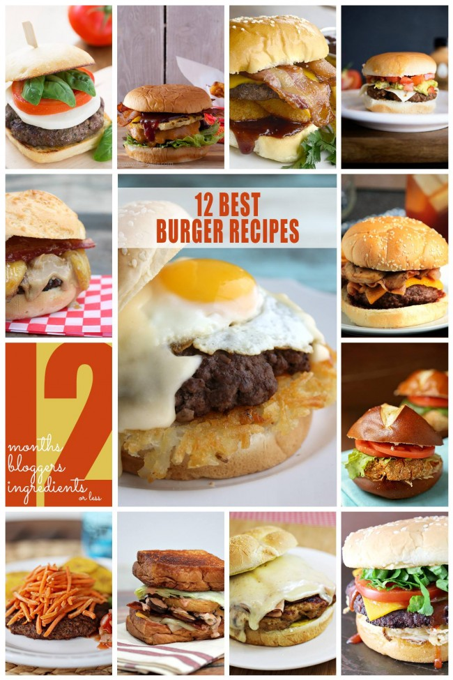 12 Best Burger Recipes | anightowlblog.com