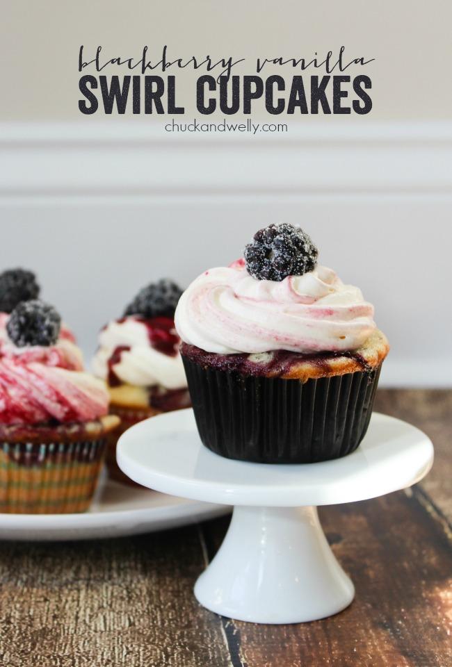 Blackberry Vanilla Swirl Cupcakes HERO