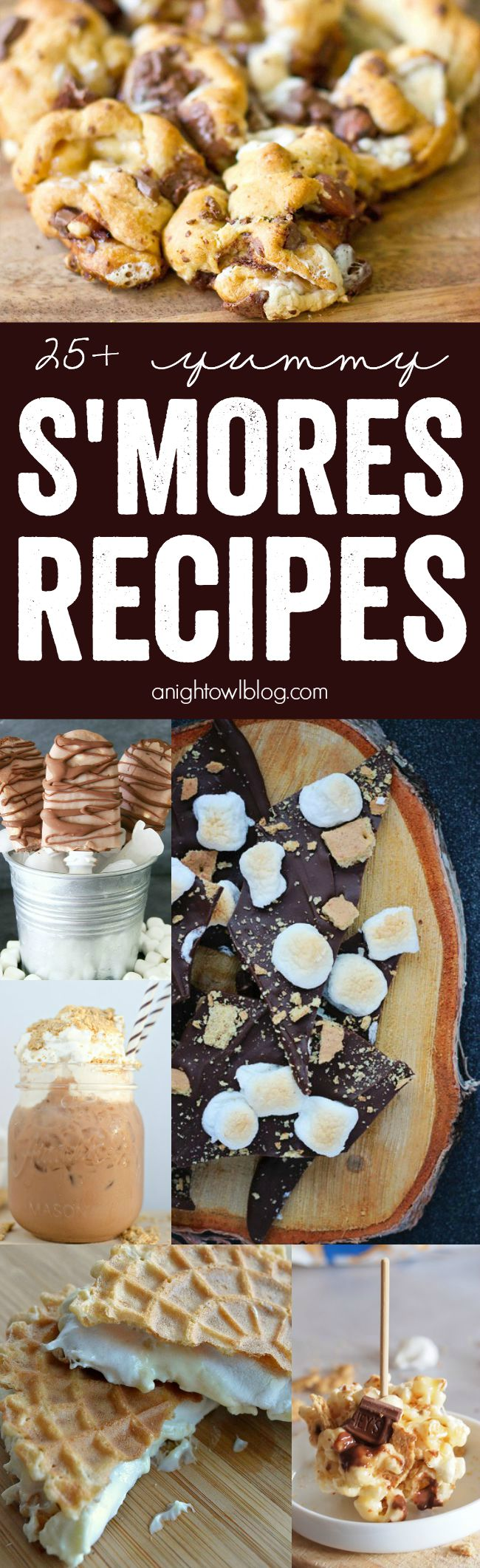 More than 25 DELICIOUS S'mores Recipes just in time for National S'mores Day! It's always a good day for a s'more! YUM!