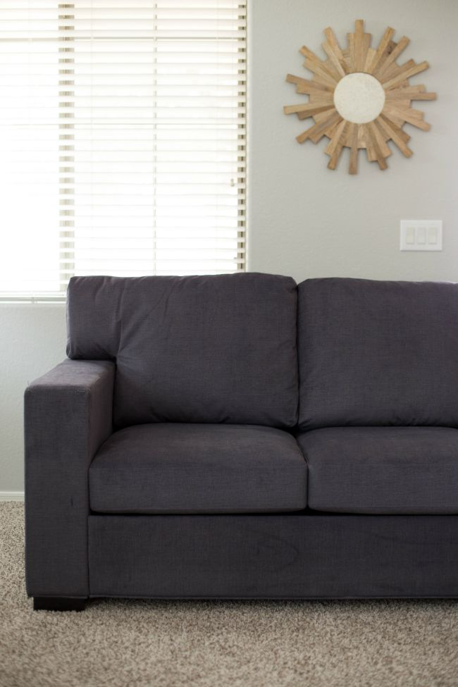 The Oxford Square Sofa in Charcoal by Better Homes and Gardens at Walmart