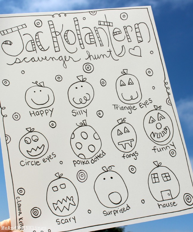 Jackolantern Hunt Printable